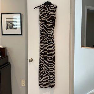 Sharagano belted maxi dress